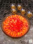 Strawberry orange carpaccio, bourbon jelly http://wp.me/p3iY4S-er