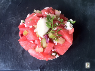 Watermelon, carpaccio or tartare?http://wp.me/p3iY4S-lv