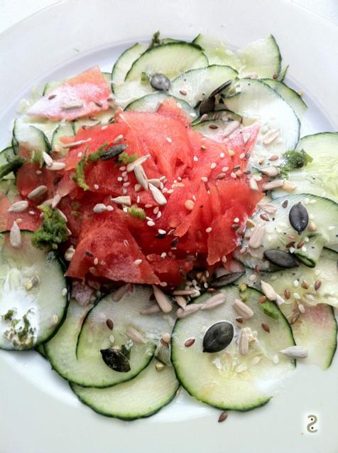 Watermelon carpaccio http://wp.me/p3iY4S-lv