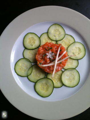 Salmon tartar with borage http://wp.me/p3iY4S-pA