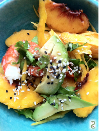 Peach of immortality in salad http://wp.me/p3iY4S-sb