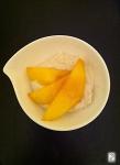 Raw Cashew Cream, ginger honey and mango http://wp.me/p3iY4S-wH