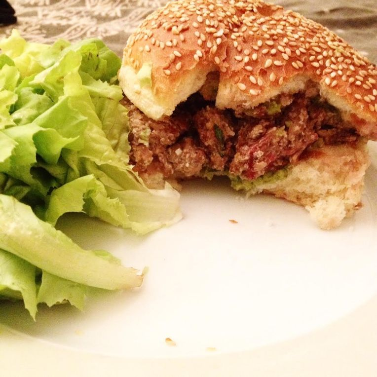 Vegan burger. would you guess this is not meat?